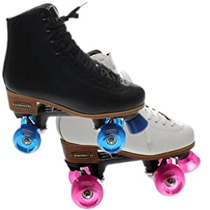 Ventronic Boston II Leather Quad Roller Figure Skates