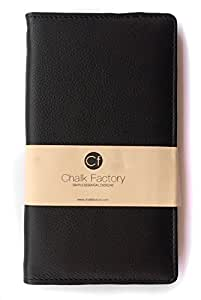 Chalk Factory Black Leather Case / Pouch/ Cover for Gionee Ctrl V5 (Black) Mobile Phone