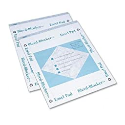 Brand New Tops Bleed-Blocker Easel Pad Unruled 27 X 34 White 2 40-Sheet Pads/Pack