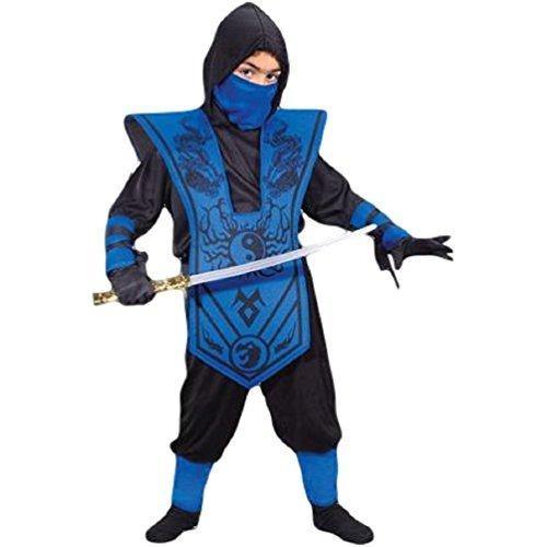 [X-large Complete Ninja Child Halloween Costume, Blue] (Child Blue Stealth Ninja Costumes)