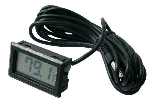 Beulerⓡ brand Digital temperature meter with remote temp sensor (Temperature Sensor For Car compare prices)