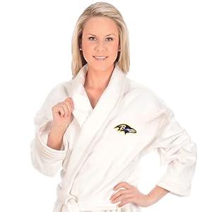 Buy McArthur Baltimore Ravens Bath Robe - Baltimore Ravens One Size by WinCraft