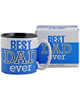 Best Dad Ever 13Oz Coffee Mug Great for Fathers Day or Birthday (1, Blue)