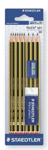 staedtler-120s1bk10d-matita-noris-hb-set-con-gomma-da-cancellare-e-temperamatite-confezione-cartone-