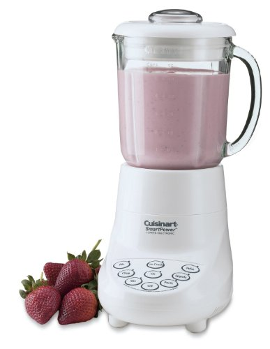 Cuisinart 7 Speed Electronic Blender With Touchpad Controls And Indicator Lights, 40 Oz Dripless Glass Jar, With 2 Oz Pourlid With Marked Measures And Dishwasher Safe Parts