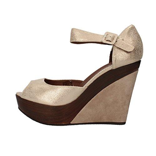 CARMENS sandali donna platino pelle scamosciata AF496 (40 EU)