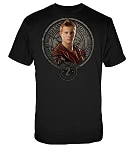 The Hunger Games Movie Men's Tee Cato in Stone Seal medium