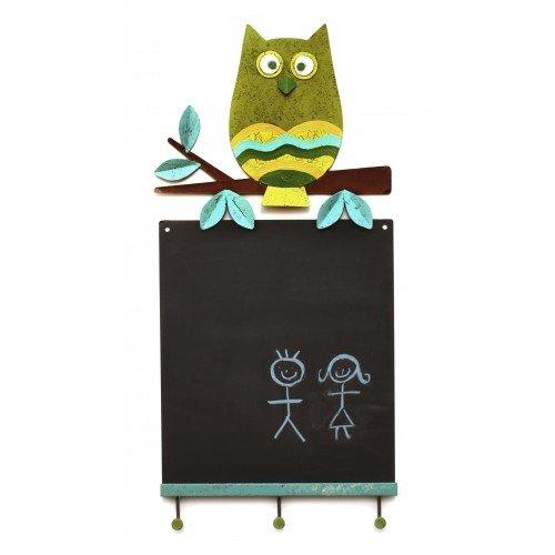 """Fair Trade Magnettafel / Wandtafel """"Eule"""" – 29 x 60 cm – Memoboard fairtrade (grün) bestellen"""