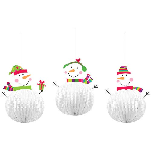 decoration hanging 3d joyful snowman
