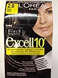 L'OREAL PARIS EXCELL 10 PERMANENT HAIR COLOUR 2.0 DEEP BLACK