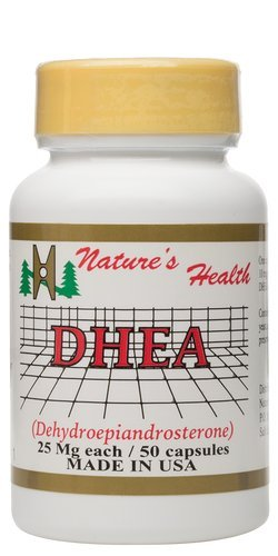DHEA, favorise un équilibre hormonal All-Natural, Stabilise niveaux d'énergie saine, déhydroépiandrostérone, 25 mg, 50 comprimés, Santé Nature