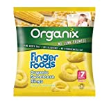 THREE PACKS of Organix - Extruded Baby Snacks St2 Golden Sweetcorn Rings 20g x 8