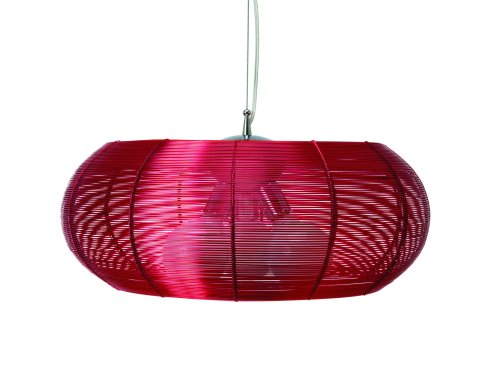 Leitmotiv Pendant Lamp Oval, Red