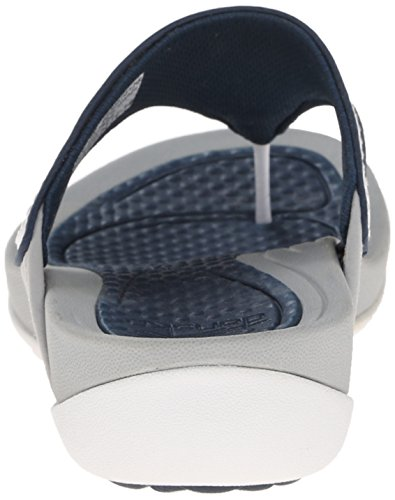 Dansko Women's Katy Flip Flop, White/Navy Smooth, 38 EU/7.5-8 M US