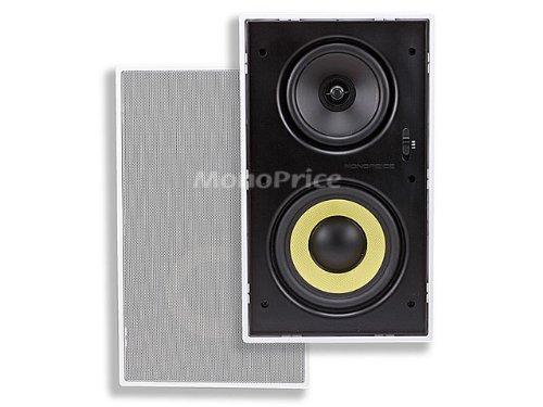 Monoprice 107604 Dual Woofer Micro Flange In-Wall Speakers (Pair)