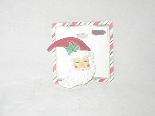 Santa Head Resin Christmas Pin