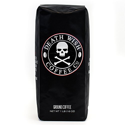 Death Wish Ground Coffee, The World's Strongest Coffee, Fair Trade and USDA Certified Organic, 16 Ounce (Coffee Beans Coffee Mug compare prices)