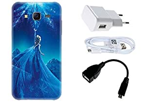 Spygen Samsung Galaxy J5 (2015) Case Combo of Premium Quality Designer Printed 3D Lightweight Slim Matte Finish Hard Case Back Cover + Charger Adapter + High Speed Data Cable + Premium Quality OTG