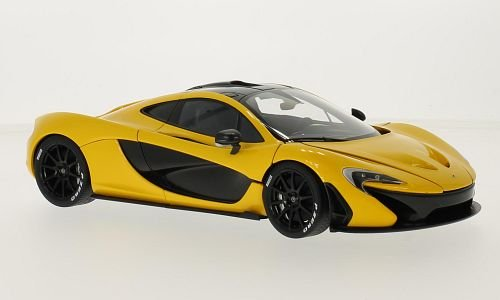 mclaren-p1-metallic-gelb-schwarz-2013-modellauto-fertigmodell-autoart-118