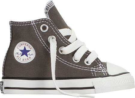 Converse Boys' Chuck Taylor All Star Hi Top (Inf/Tod) - Charcoal - 9 Toddler front-1060337