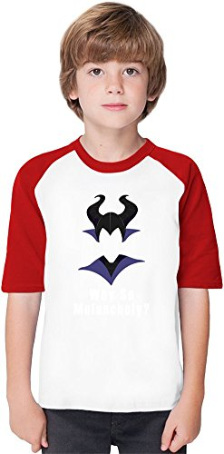 Why so Melancholy Soft Material Baseball Kids T-Shirt by True Fans Apparel - 100% Organic, Hypoallergenic Cotton- Casual & Sports Wear - Unisex for Boys and Girls 7-8 years