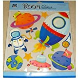 E-baby-store 3D 3 Dimensional Space Alien Astronaut Spaceman Planet Wall, Furniture Stickers For Nursery, Childrens, Baby, Childs, Kids, Boys, Girls, Bedroom, Playroom. Decals, Stickarounds, Murals, Wallpaper, Adhesives.