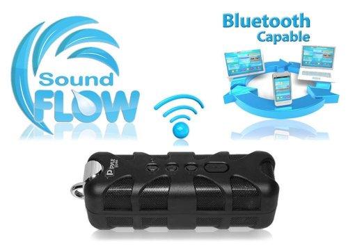 New Pyle Pwpbt60 Rugged & Waterproof Wireless Hanging Bluetooth Speaker In Black