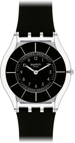 Swatch Black Classiness SFK361 Ladies Watch
