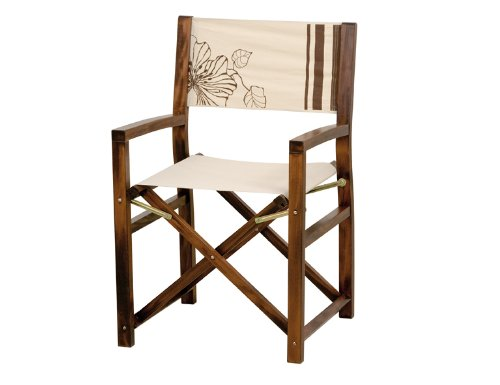 Siena Garden Playa Directors Chair Polyester Cover and Hardwood Coffee