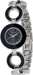 XOXO Watch Women's Watch XO5279 Black Dial Black Enamel Bracelet Analog Watch