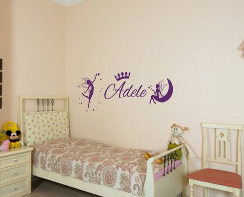 Housewares Vinyl Decal Custom Personal Name Princess Crown Home Wall Art Decor Removable Stylish Sticker Mural Unique Design For Nursery Bed Room front-145608