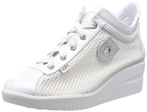 AGILE BY RUCOLINE donna sneakers zeppa 226 A NEW TOP CHAMBERS 38 BIANCO