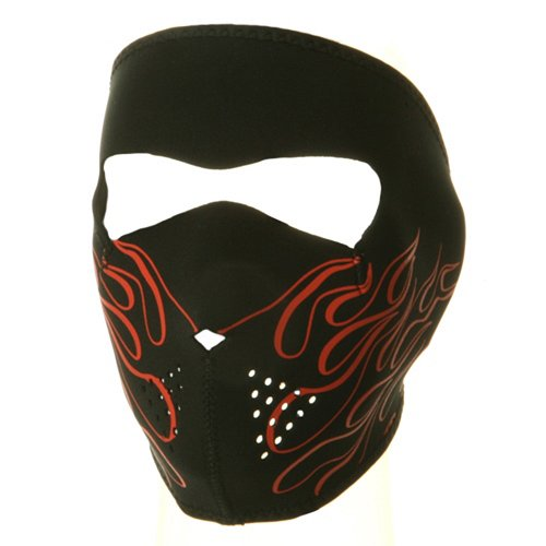 Neoprene Full Face Mask-Orange Flame W11S23D