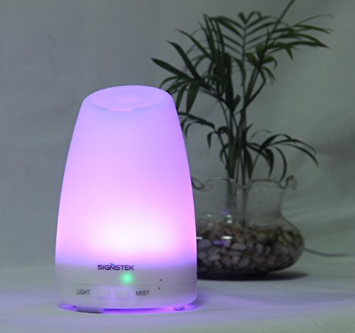 Signstek 120Ml Aroma Diffuser Atomizer Air Humidifier Purifier With 7 Auto Color Changing Led Lamps
