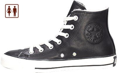 Converse All Star - Winter-Chuck, Leder, schwarz, 1629247/36