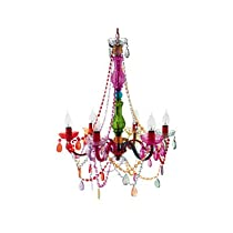 Big Sale Best Cheap Deals Silly Lamp Chandelier Gypsy Large, 6 Arm- Multi