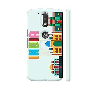 Colorpur India Multicolor Flat Art Designer Mobile Phone Case Back Cover For Motorola Moto G4 / Moto G4 Plus | Artist: Designer Chennai