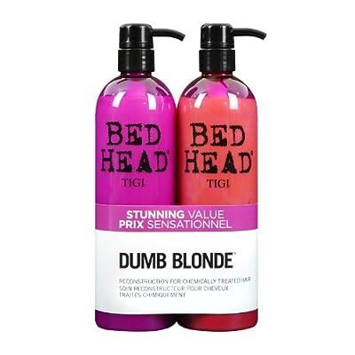 TIGI Bed Head Dumb Blonde Shampoo and Reconstructor Conditioner Duo, 25.36oz & Paul Mitchell Compact Mirror