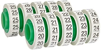 """3M ScotchCode Wire Marker Tape Refill Roll SDR-20-29, Printed with """"20-29"""" (Pack of 10)"""