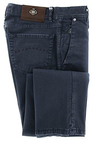 new-luigi-borrelli-navy-blue-solid-pants-super-slim-33-49
