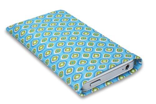 Janney [m]BAG retro Handytasche Hülle aus Stoff für dein Anycool iPRO i66pro mit Display Reinigungsfunktion durch Microfaserinnenfutter