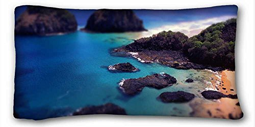 Soft Pillow Case Cover ( Nature ocean rocks beach water ) Rectangle Pillowcase 20x36 inches (one side) suitable for Queen-bed PC-Orange-25045