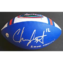 Chris Leak Autographed Hand Signed Florida Gators Football - with 2006 CHAMPS...