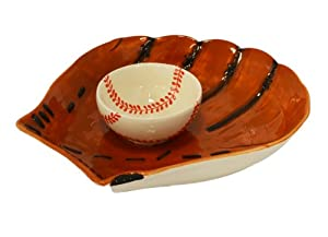 Baseball Chip & Dip Salsa Bowl Serving Platter by MTR
