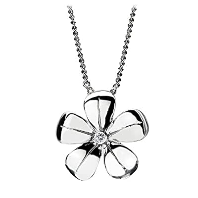 Hot Diamonds Plumbago Silver and Diamond Pendant 41cm with 5.5cm Extender