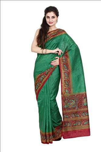 Parchayee Women Synthetic Sarees (93700 _Green _Free Size)