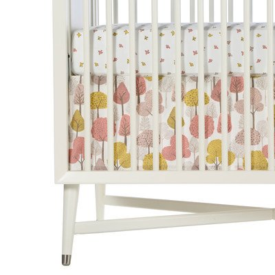 DwellStudio Percale Crib Skirt, Treetops (Discontinued by Manufacturer) - 1