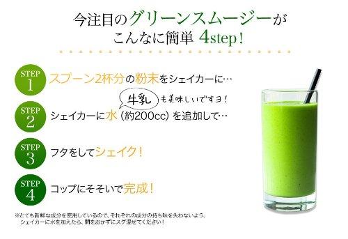 ミネラル酵素グリーンスムージー マンゴー味 専用シェイカー付
