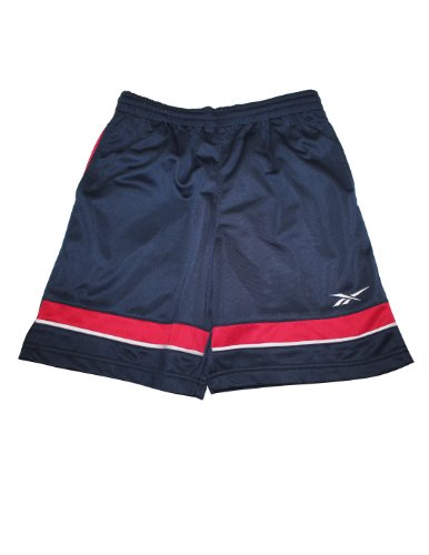 Reebok Youth High Performance Athletic Sports Shorts 16 Dark Blue front-932135