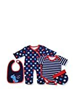 Pitter Patter Baby Gifts Conjunto (Azul Marino)
